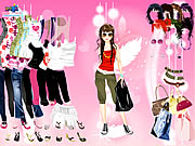 Pink Feather Dress Up